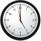 Wall Clock - Showing 5 O`Clock. Business Concept, Wall Clock - Showing 5 O`Clock Royalty Free Stock Photos