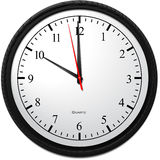 Wall Clock - Showing 10 O`Clock Royalty Free Stock Photo