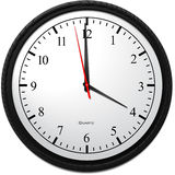 Wall Clock - Showing 4 O`Clock. Business Concept, Wall Clock - Showing 4 O`Clock Royalty Free Stock Photography