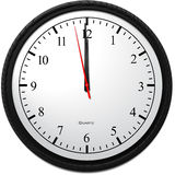 Wall Clock - Showing 12 O`Clock. Business Concept, Wall Clock - Showing 12 O`Clock Royalty Free Stock Photos