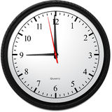 Wall Clock - Showing 9 O`Clock. Business Concept, Wall Clock - Showing 9 O`Clock Royalty Free Stock Images