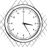 Wall clock sketch Stock Images