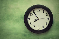 Wall clock on surreal background Royalty Free Stock Photos