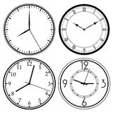 Wall Clock template Royalty Free Stock Photo