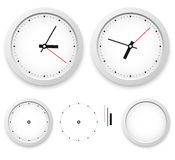 Wall clock template Stock Photo