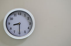 Wall clock time is 8:30 Stock Photos