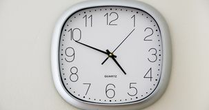 Wall Clock Timelapse during rush hour stock video footage