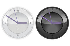 Wall_Clock_UI. Vector illustration of two wall clock. Minimalistic elegant design allows you to use it for web or usre interface design. Also you can scale this Royalty Free Stock Image