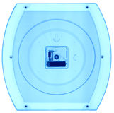 Wall clock under X-rays. Royalty Free Stock Images