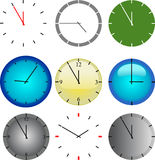 Wall clock vector Stock Images