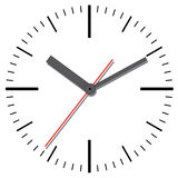 Wall clock. Vector illustration. Stock Photography