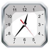 Wall clock. Vector illustration. Stock Images