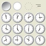 Wall clock. Vector illustration. Royalty Free Stock Photos
