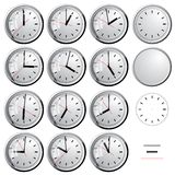 Wall clock. Vector illustration. Stock Photos