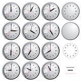Wall clock. Vector illustration. Stock Photos