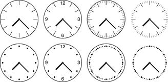 Wall clock. Vector illustration. Stock Image