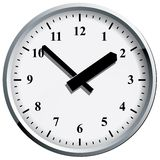Wall clock. Vector illustration. Royalty Free Stock Images