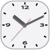 Wall clock. Vector illustration. Stock Photo