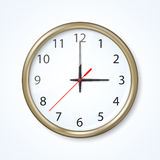 Wall clock. Vector illustration Royalty Free Stock Images