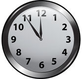 Wall Clock. Vector image of isolated wall clock Stock Image