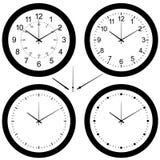 Wall clock vector set Royalty Free Stock Photos