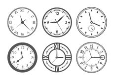 Wall clock vector set. Set of wall clock. Watch and circle, symbol, second and minute. Vector illustration vector illustration