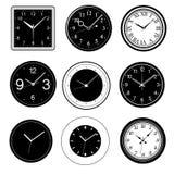Wall clock vector Royalty Free Stock Photos