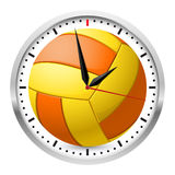 Sports Wall Clock. Wall clock. Volleyball style. Illustration on white background Stock Images