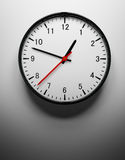Wall clock on white. 3D redner of a wall clock on white Royalty Free Stock Photos
