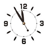 Wall clock on white Royalty Free Stock Images