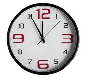 Wall Clock. On a white background Stock Photo