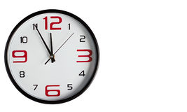 Wall clock on a white background Stock Photos