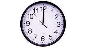 Wall clock on a white background 00:00