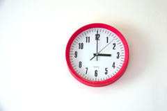Wall clock  on white background Stock Photo