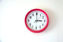 Wall clock  on white background. At tree o`clock Stock Photo
