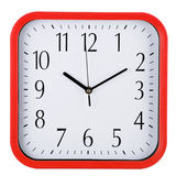 Wall clock on white. Ten past ten. Royalty Free Stock Photo