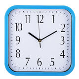 Wall clock on white. Ten past ten. Stock Photo