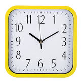 Wall clock on white. Ten past ten. Stock Photography