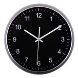 Wall clock  on white. Ten past ten. Royalty Free Stock Image
