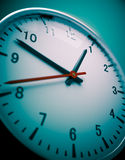 Wall clock wide angle. 3D redner of a wall clock Stock Photography