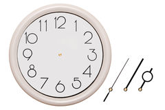 Wall clocks. Wall clock, isolated on white background Stock Photography