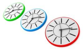 Wall clocks Stock Images