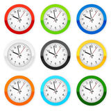 Wall clocks Royalty Free Stock Photos