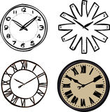 Wall clocks Royalty Free Stock Photography
