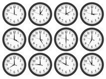 Wall clocks set. Royalty Free Stock Image