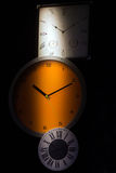 Wall Clocks in Shadow Concept Royalty Free Stock Photo