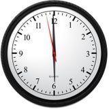 Wall Clocks - Showing 6 O`Clock Royalty Free Stock Image