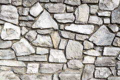 The Wall. Close-up of a stone wall mosaic style Stock Photography