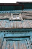 Wall with a closed window Royalty Free Stock Photos