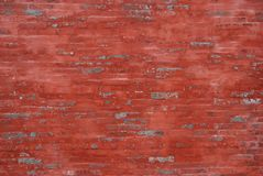 A wall. A closeup view of red old brick wall Royalty Free Stock Images